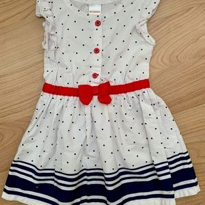 2 for $15 Nautical-themed Toddler Dress 12-18M